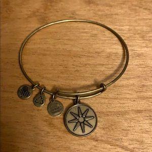 Flower alex & ani bracelet
